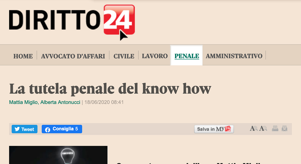 tutela-penale-del-know-how