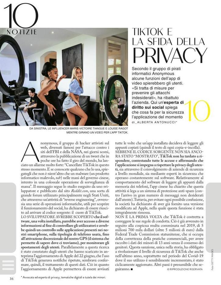 tiktok e la sfida della privacy