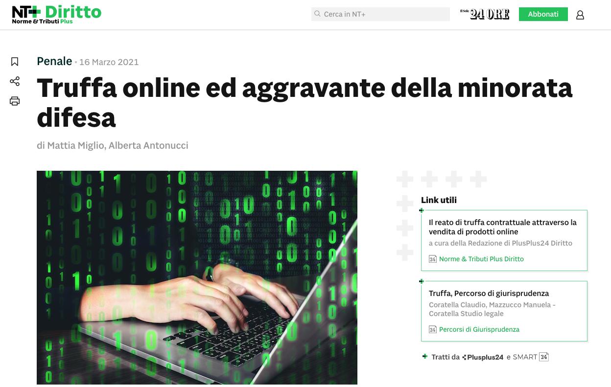truffa online